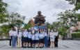 นาวาอากาศเอก (พิเศษ) คัมภีร์ คัมภีรญาณนนท์ ทำบุญคล้ายวันเกิดพร้อมมอบทุนการศึกษาเด็กเรียนดี-แมสและข้าวกล่องให้กับผู้ป่วยติดเตียงชุมชนวัดระฆังฯ